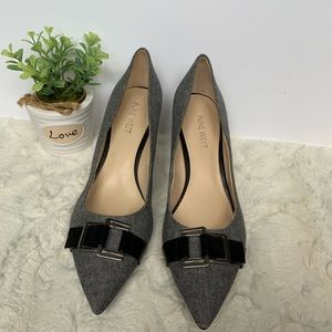 Nine West gray/black pump heels